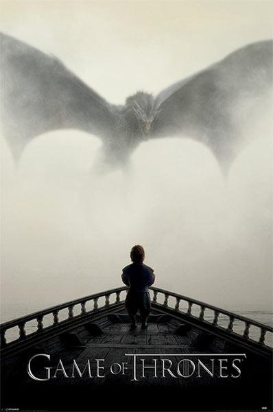 Póster Tyrion Lannister y Dragón. Juego de Tronos