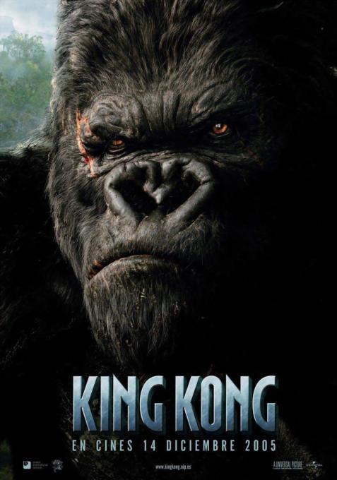 Póster cara King Kong