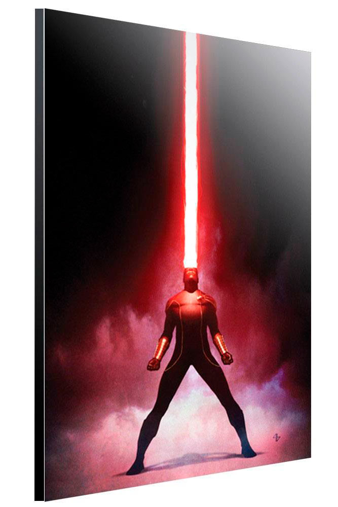 Póster de madera Cyclops 40 x 60 cm. X-Men. By Adi Granov. Marvel Cómics