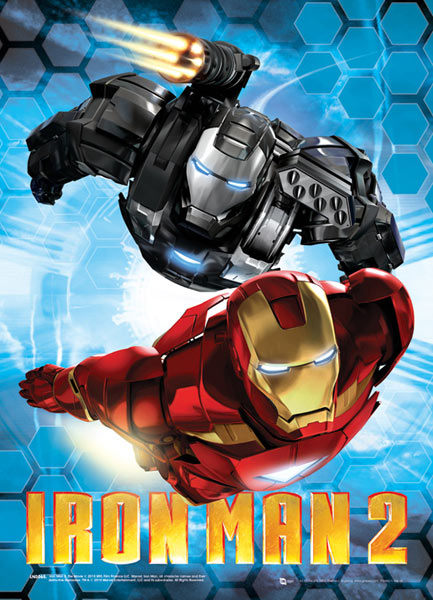 Póster efecto 3D Iron Man 2