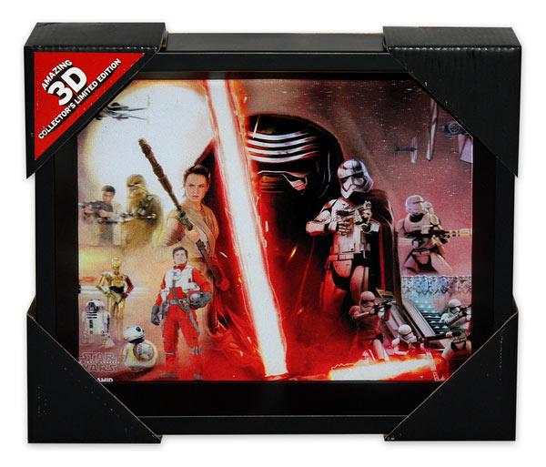 Póster efecto 3D enmarcado Star Wars