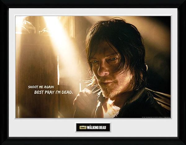 Póster enmarcado Daryl Dixon. The Walking Dead