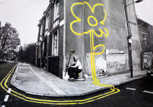 Póster lámina Banksy. Pollard Street Gelbe Bluma