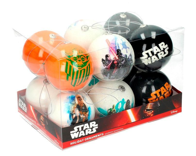 Pack 12 bolas de Navidad Star Wars. Modelo 1
