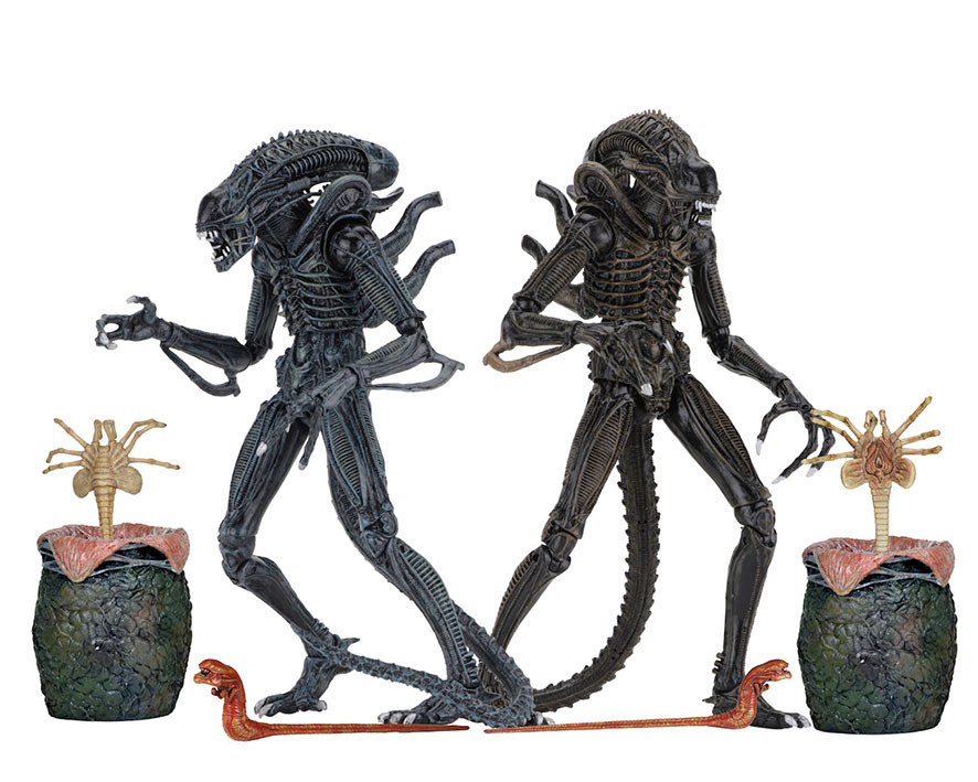 Pack 2 Figuras Ultimate Alien Warrior 23 cm. Alien el octavo pasajero