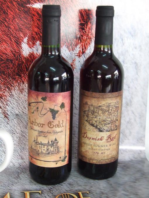 Pack 2 botellas de vino Juego de Tronos. Arbor Gold y Dornish Red