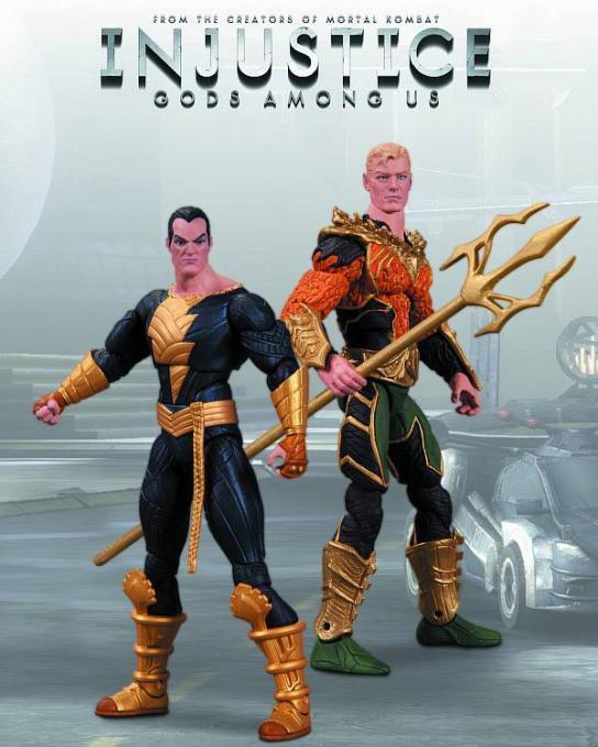 Pack 2 figuras Aquaman Vs Black Adam