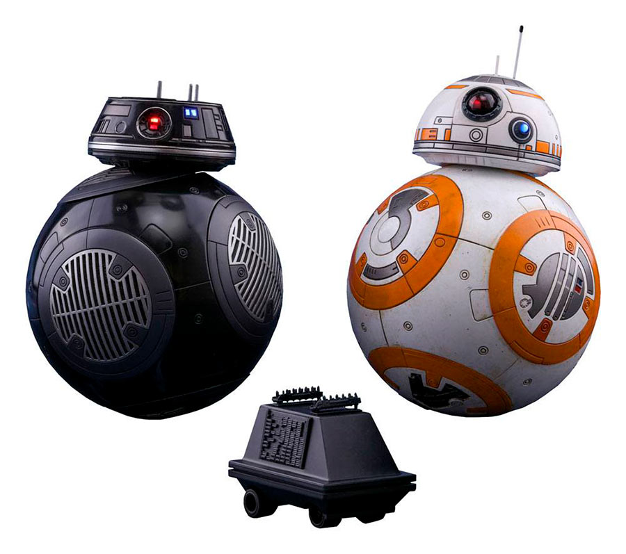 Pack 2 figuras BB-8 & BB-9E de 11 cm. Star Wars: The Last Jedi Con luz. Hot Toys