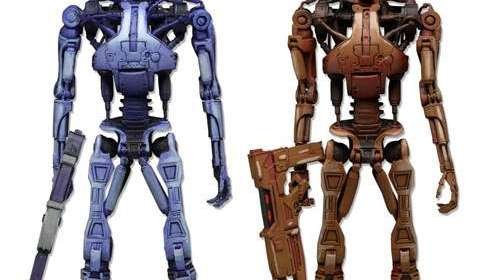 Pack 2 figuras Endoskeleton 18 cm. RoboCop vs. The Terminator. NECA