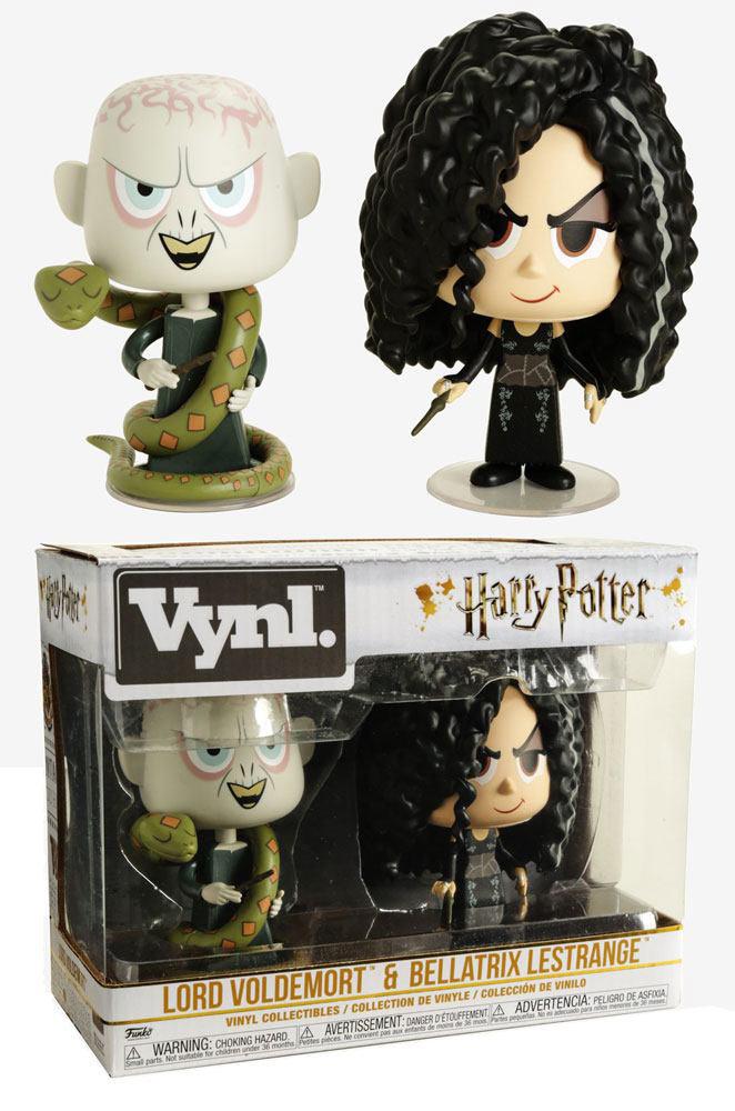 Pack 2 figuras Figuras Bellatrix & Voldemort 10 cm. Harry Potter. Funko