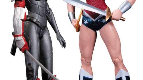 Pack 2 figuras Wonder Woman vs. Katana 18 cm. Línea The New 52. DC Collectibles. DC Cómics