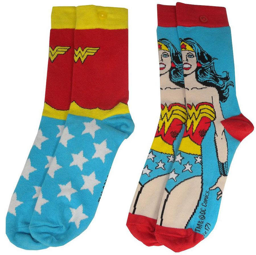 Pack 2 pares de calcetines chica Wonder Woman