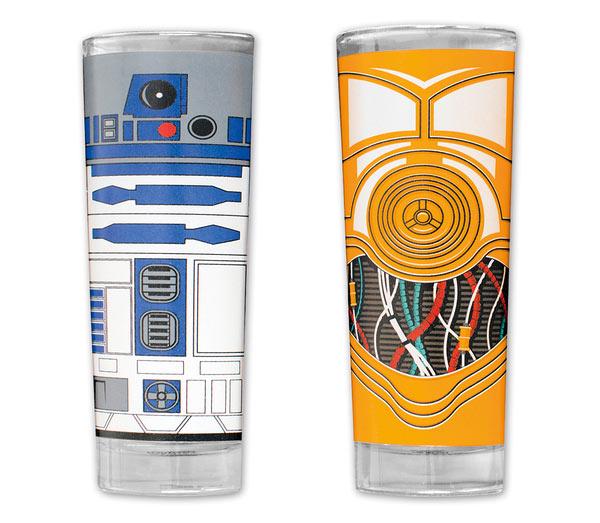 Pack 2 vasos C-3PO y R2-D2. Star Wars