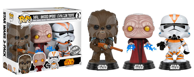 Pack 3 Funko POP Tarfful