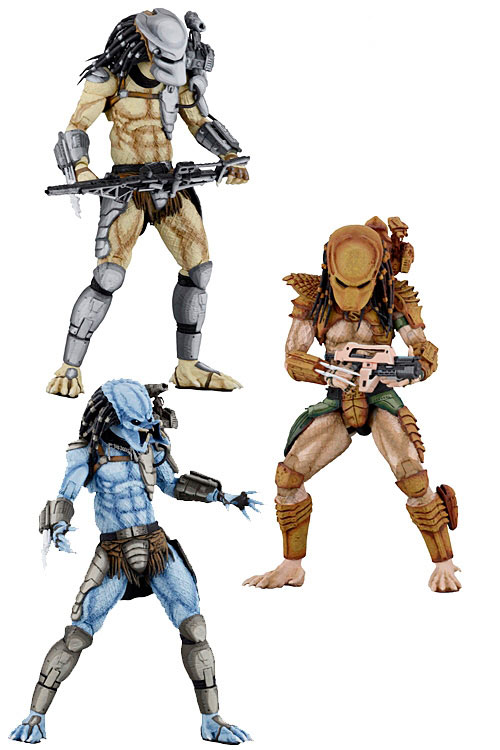 Pack 3 figuras Alien vs Predator