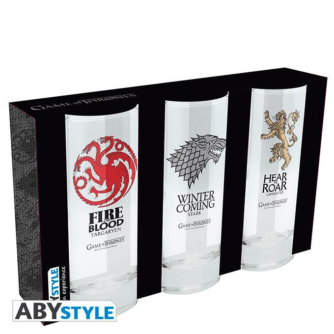 Pack 3 vasos Juego de Tronos.Targaryen