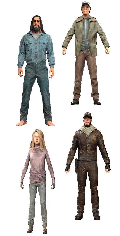 Pack 4 figuras The Walking Dead 15 cm. Serie 5. Versión Cómic. McFarlane Toys