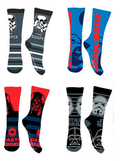 Pack 4 pares calcetines Star Wars
