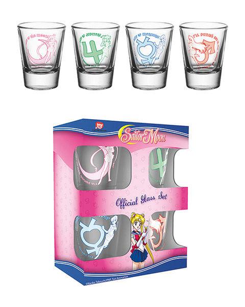 Pack 4 vasos chupito Sailor Moon