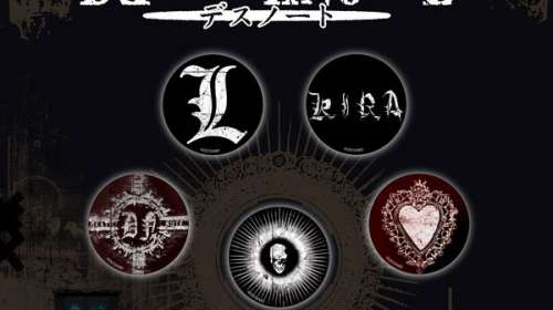 Pack 5 chapas Death Note