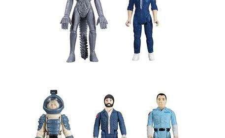 Pack 5 figuras Alien: el Octavo Pasajero. Línea ReAction Funko