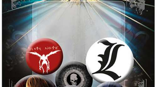 Pack 6 chapas Death Note