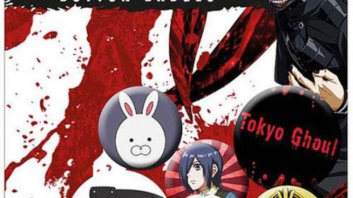 Pack 6 chapas Tokyo Ghoul