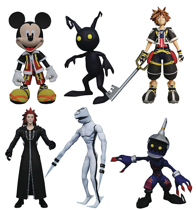 Pack 6 figuras Kingdom Hearts