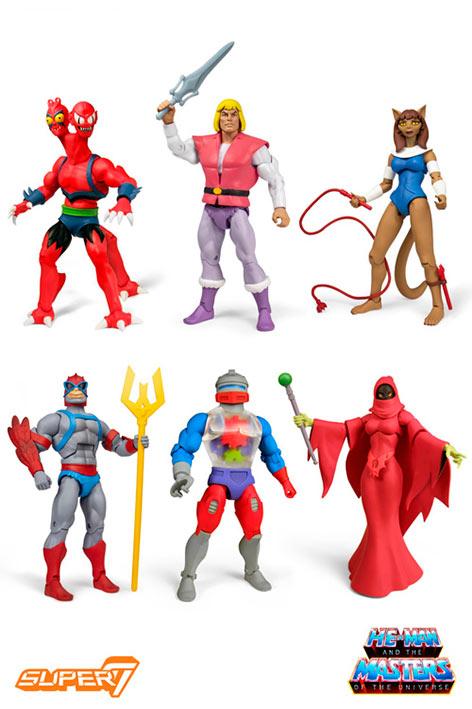 Pack 6 figuras Masters del Universo (MOTU) 18 cm