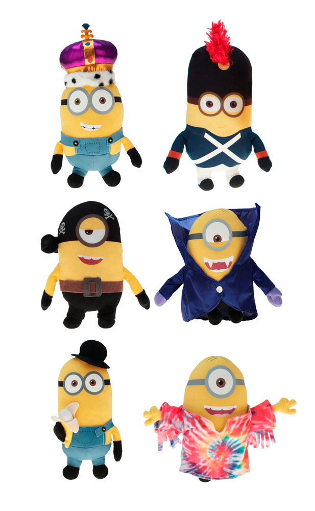 Pack 6 peluches Minions 22 cm