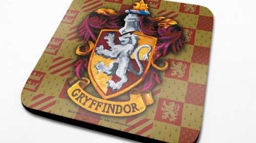 Pack 6 posavasos escudo Gryffindor 10 x 10 cm. Harry Potter