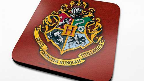 Pack 6 posavasos. Escudo Hogwarts. Harry Potter
