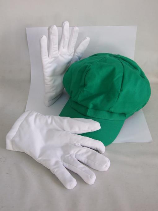 Pack Gorro y guantes Luigi. Mario Bros