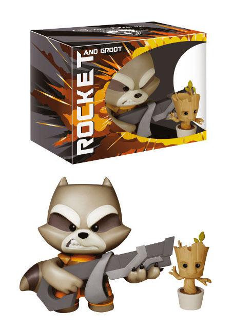 Pack Rocket Raccoon & Baby Groot 18 cm. Guardianes de la Galaxia. Edición Deluxe. Línea Vinyl Idolz. Funko