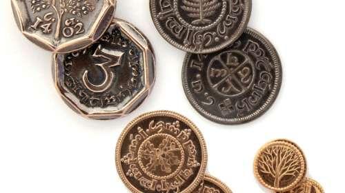 Pack set 4 monedas El Hobbit: un viaje inesperado. Set 1. Shire Post Mint