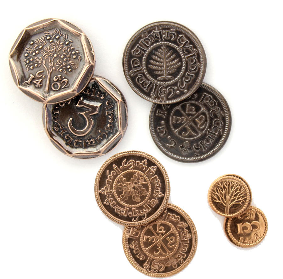 Pack set 4 monedas El Hobbit: un viaje inesperado. Set 1. Shire Post Mint