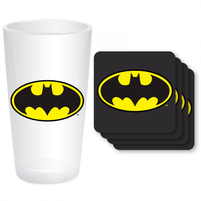 Pack vaso y posavasos Batman. DC Comics