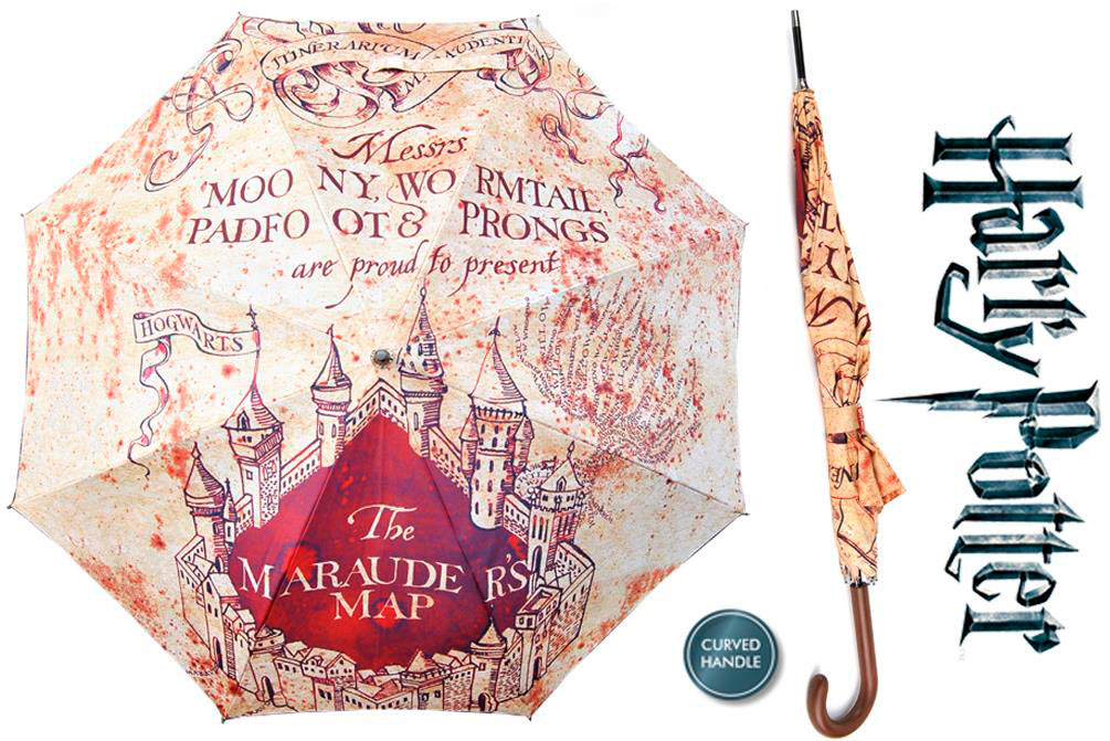 Paraguas Mapa Merodeador 112 cm. Harry Potter