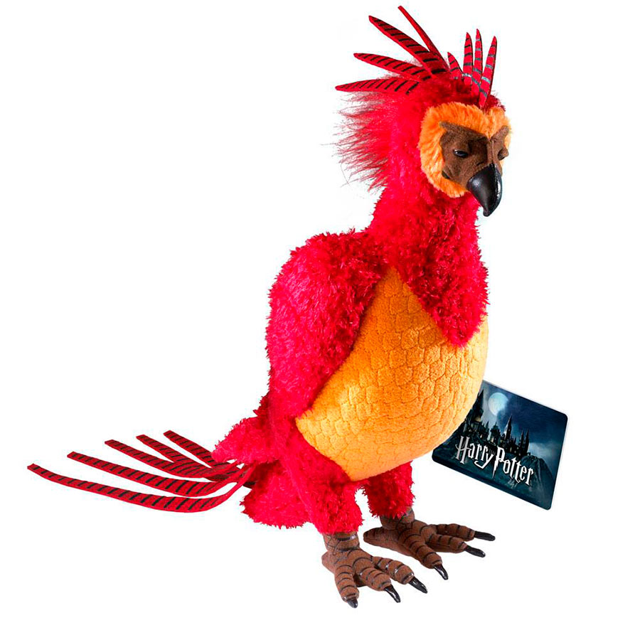 Peluche Fawkes the Phoenix 30 cm. Harry Potter. Deluxe Version. Noble Collection