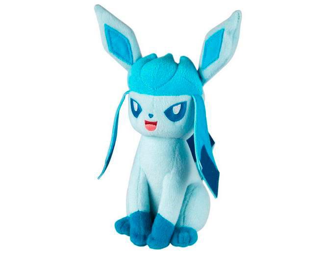 Peluche Glaceon 20 cm. Pokemon. Tomy