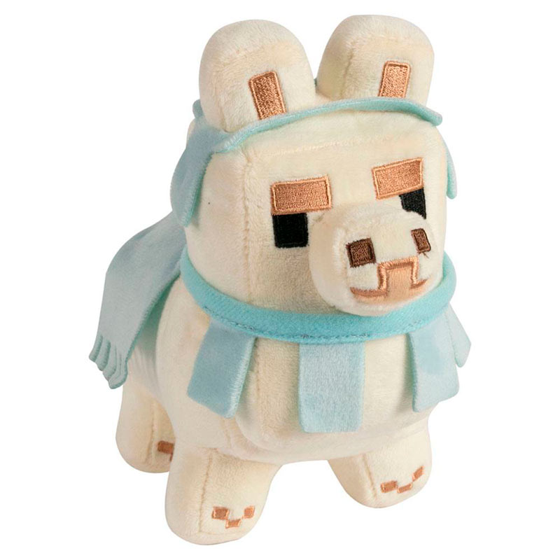 Peluche Happy Explorer Baby Llama White/Baby Blue 16 cm. Minecraft. J!NX