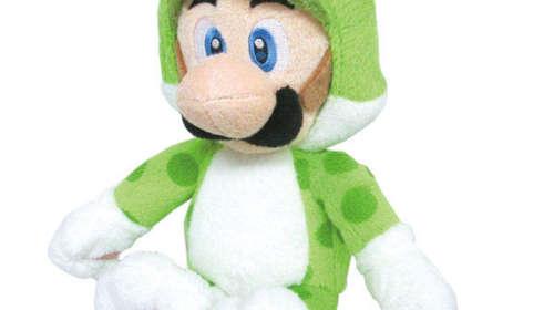 Peluche Luigi moteado 25 cm. Super Mario Bros