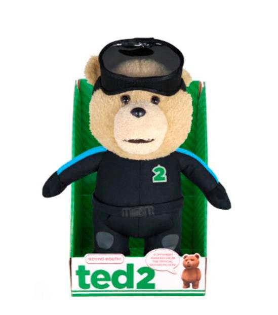 Peluche Oso Ted 2 con traje de buceo y sonido. Versión inglés y para adulto.