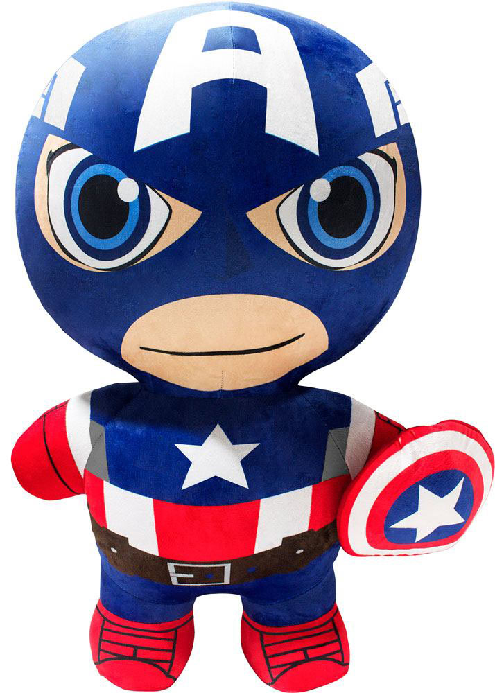 Peluche inflable Capitán América 76 cm. Inflate-A-Heroes. Marvel Cómics
