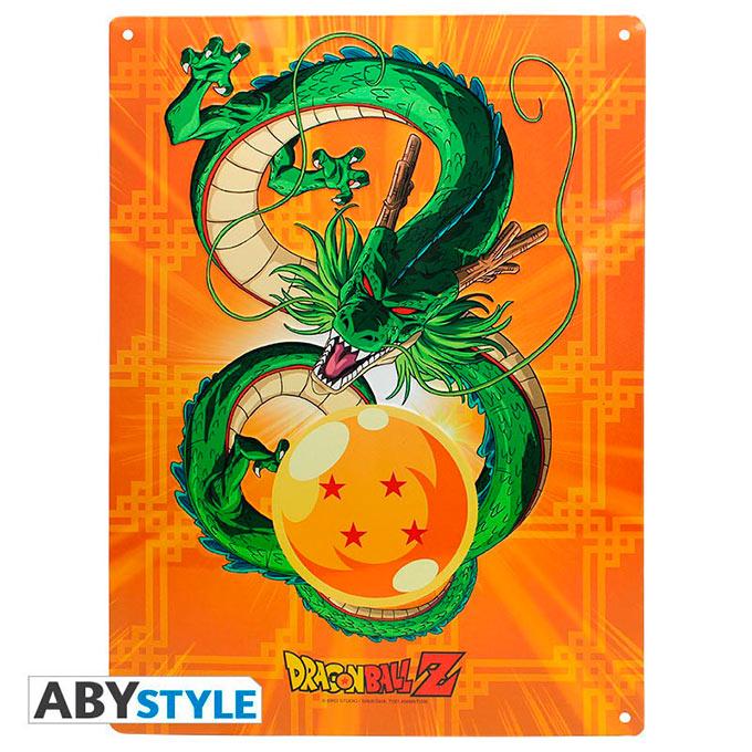 Placa metálica Dragon Ball