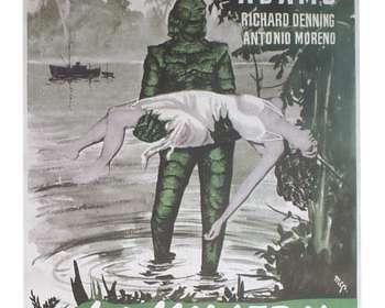 Poster La mujer y el monstruo