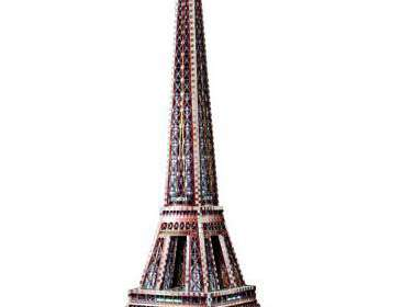Puzzle 3D La Torre Eiffel. 816 piezas Wrebbit