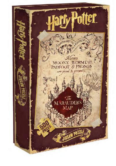 Puzzle Mapa Merodeador. Harry Potter 500 piezas