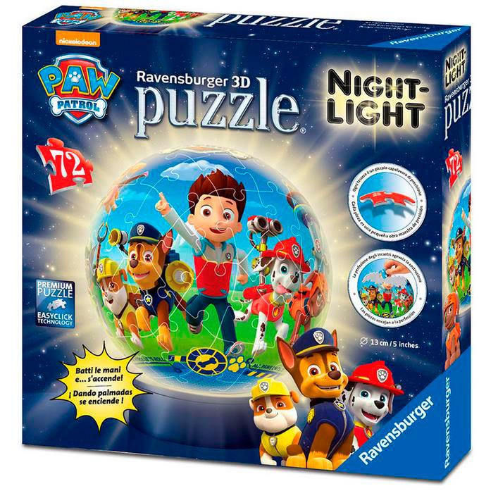 Puzzle lámpara Patrulla Canina