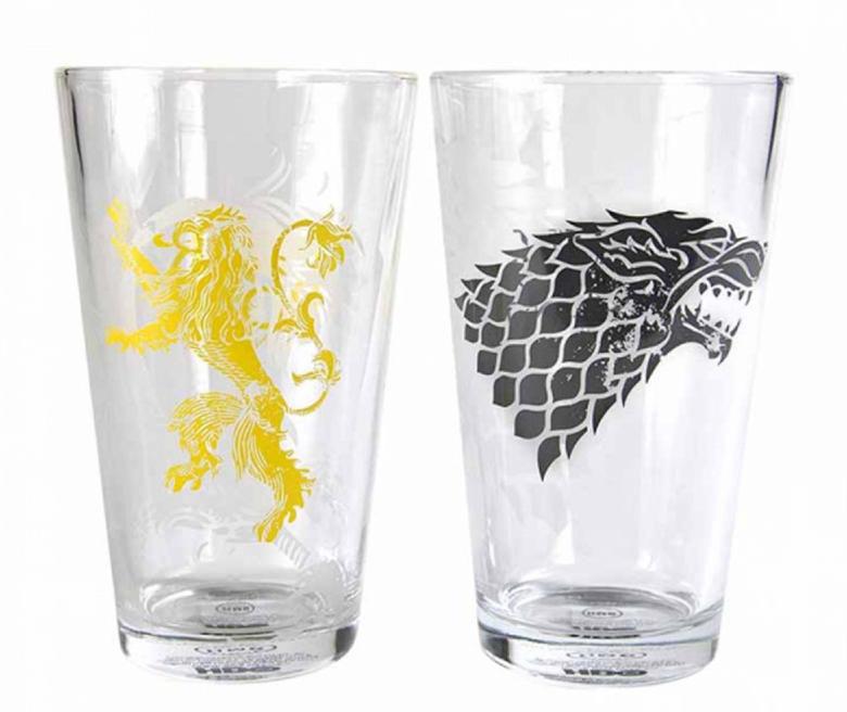 Set 2 vasos Lannister y Stark. Juego de Tronos
